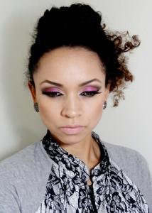 Maquiagem Colorida e cabelo Preso I