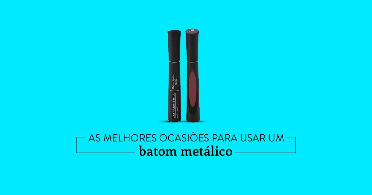batom metálico