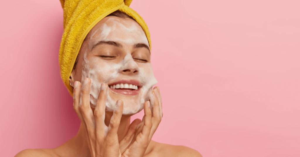 esfoliação para limpeza de pele