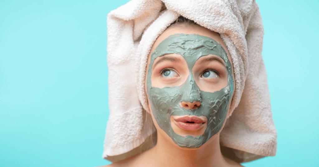máscara para limpeza de pele