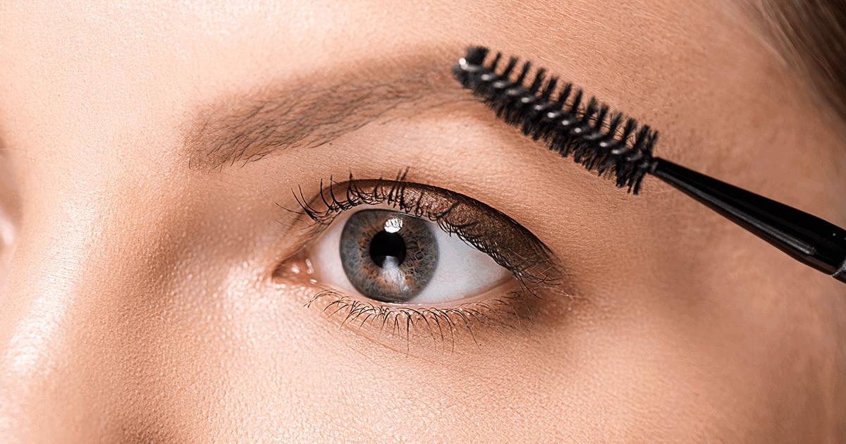 Cor da maquiagem para sobrancelhas