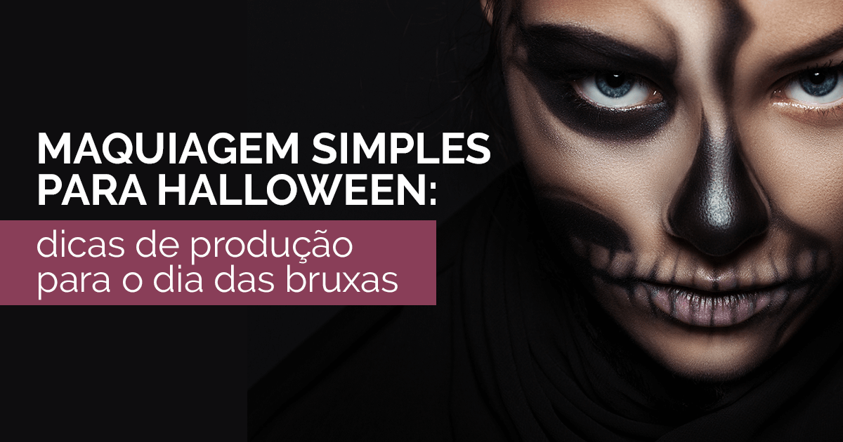 Maquiagem simples para halloween