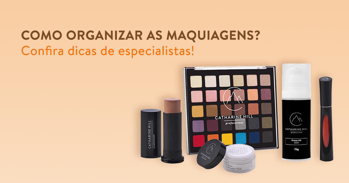 Como organizar as maquiagens